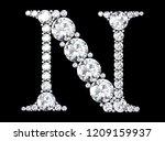 diamond letters with gemstones  ... | Shutterstock . vector #1209159937