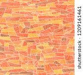 seamless abstract vector orange ... | Shutterstock .eps vector #1209161461