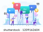 business team working on big... | Shutterstock .eps vector #1209162604