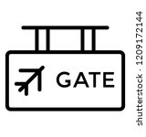 hanging board of airport gate | Shutterstock .eps vector #1209172144