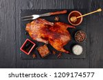 Whole Amber Hued Grilled Duck...