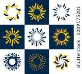 sun logo concept | Shutterstock .eps vector #1209175201