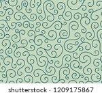 retro seamless wave lines... | Shutterstock .eps vector #1209175867
