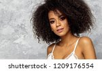beautiful black woman with an... | Shutterstock . vector #1209176554