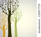 decorative trees background   Shutterstock .eps vector #120917725