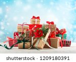 christmas or new year... | Shutterstock . vector #1209180391