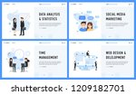 marketing management web design ... | Shutterstock .eps vector #1209182701