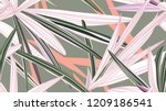ontemporary floral ornament. ... | Shutterstock .eps vector #1209186541