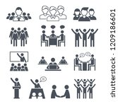 corporate team icons.... | Shutterstock .eps vector #1209186601