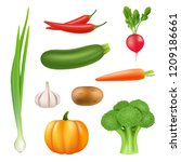 vegetables realistic pictures.... | Shutterstock .eps vector #1209186661