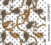 leopard  print  leopard pattern ... | Shutterstock . vector #1209189487