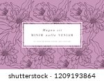vintage card with rose flowers. ... | Shutterstock .eps vector #1209193864