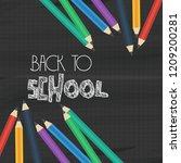 back to school brochure design... | Shutterstock .eps vector #1209200281