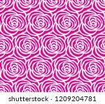 pink ross pattern seamless...   Shutterstock .eps vector #1209204781