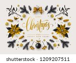 chic christmas postcard with... | Shutterstock .eps vector #1209207511