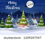 new year and christmas winter... | Shutterstock .eps vector #1209207547