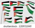 set of flags of palestine   Shutterstock . vector #120921049