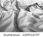 crumpled blanket  bed sheet... | Shutterstock . vector #1209216757