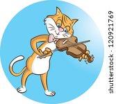 vector illustration of a cat... | Shutterstock .eps vector #120921769