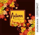 autumn season design with dark... | Shutterstock .eps vector #1209228427