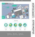 vector illustration template... | Shutterstock .eps vector #1209231634