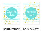 gold glitter dots with sequins. ... | Shutterstock .eps vector #1209232594