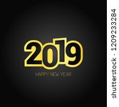 happy new year 2019 design with ... | Shutterstock .eps vector #1209233284