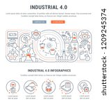 linear banner of the industrial ... | Shutterstock .eps vector #1209245374