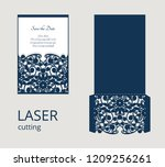 cutout envelope for wedding... | Shutterstock .eps vector #1209256261