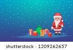 pixel art scene with santa...   Shutterstock .eps vector #1209262657