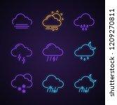 weather forecast neon light... | Shutterstock .eps vector #1209270811