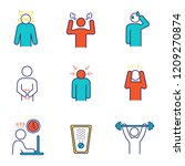 emotional stress color icons... | Shutterstock .eps vector #1209270874