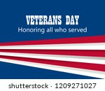 happy veterans day 11th of... | Shutterstock .eps vector #1209271027
