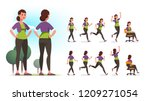young healthy sportswoman... | Shutterstock .eps vector #1209271054