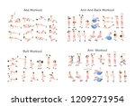 big set of people doing... | Shutterstock .eps vector #1209271954