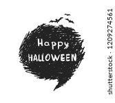 happy halloween  speech bubble...   Shutterstock .eps vector #1209274561
