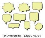 vector bubbles speech set. hand ...   Shutterstock .eps vector #1209275797