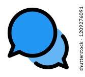 conversation bubble chat   Shutterstock .eps vector #1209276091
