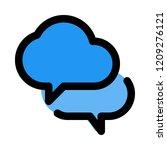 cloud chat bubbles   Shutterstock .eps vector #1209276121