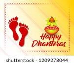 a beautiful illustration poster ... | Shutterstock .eps vector #1209278044