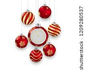 christmas background and happy... | Shutterstock .eps vector #1209280537