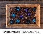 italian espresso coffee... | Shutterstock . vector #1209280711