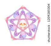 Halloween Pentagrame. Human...