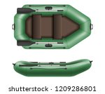 inflatable rubber boat for... | Shutterstock .eps vector #1209286801