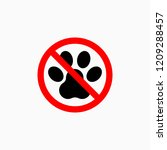 no dog paw icon | Shutterstock .eps vector #1209288457