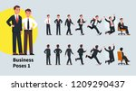 business man poses and actions... | Shutterstock .eps vector #1209290437