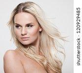 portrait of a beautiful female... | Shutterstock . vector #120929485
