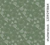 zinnia red flower pattern | Shutterstock . vector #1209295864