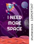 i need more space. vector space ... | Shutterstock .eps vector #1209297247