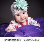 portrait of beautiful smiling... | Shutterstock . vector #120930319